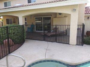 ornamental iron spring valley nv pool fence installation