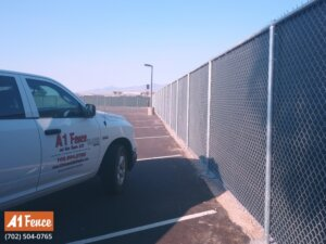 privacy chain link fence installation