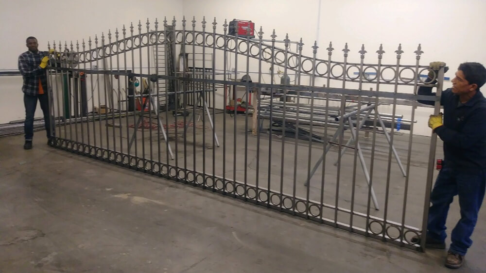 ornamental iron fence installation