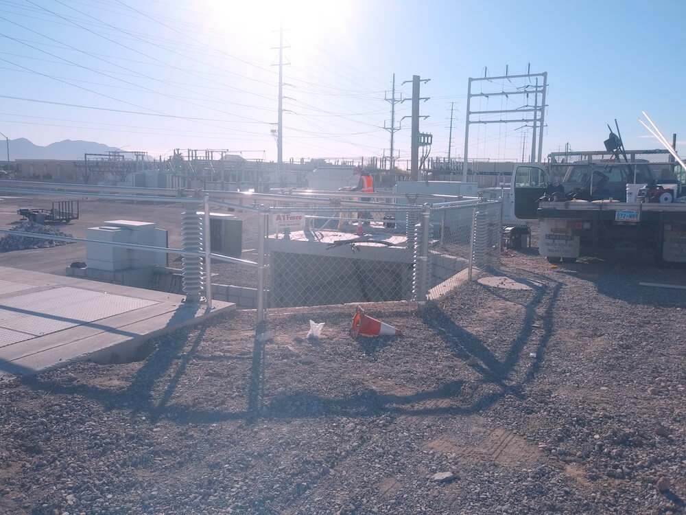 safety chain link fence