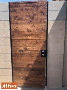 wood iron gate
